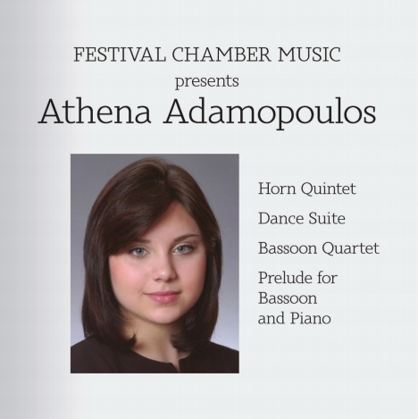 Festival Chamber Music Presents Athena Adamopoulos